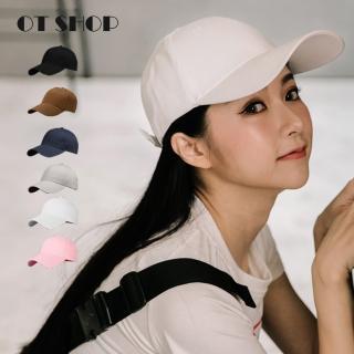 【OT SHOP】帽子 棉質老帽 棒球帽 鴨舌帽 C1750(素色 高磅數 簡約時尚 文青休閒 百搭單品)