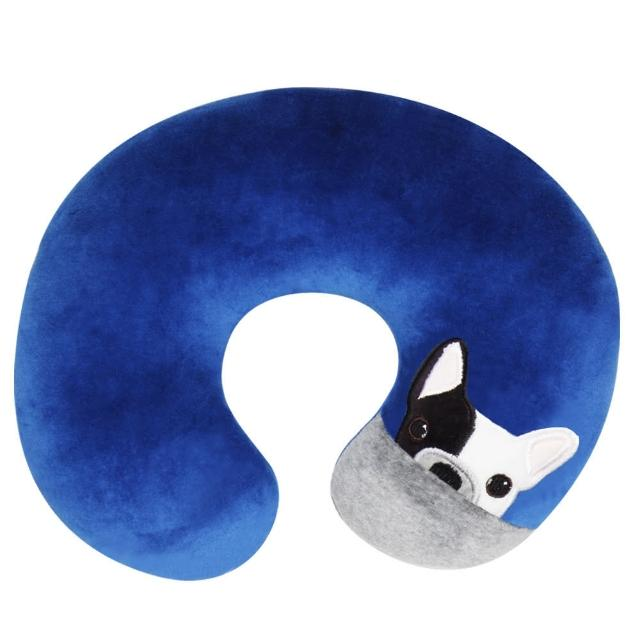 【Yvonne Collection】狗狗頸部抱枕(藍)