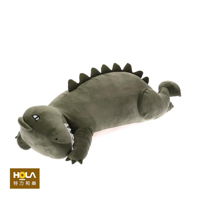 【HOLA】彈力超柔造型抱枕-厭世暴龍