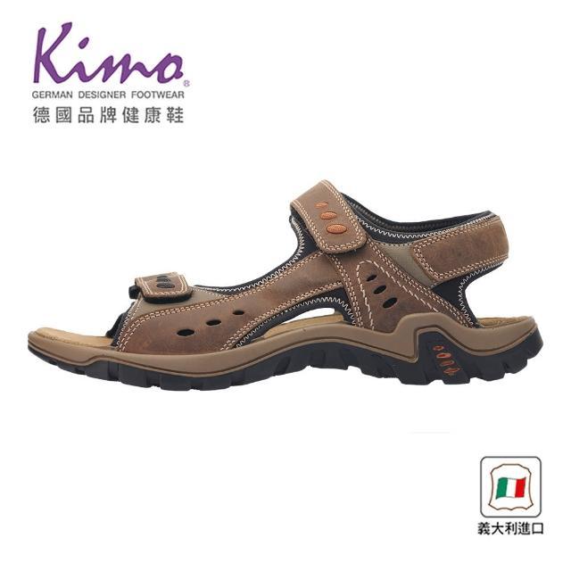 【Kimo】義大利製造牛皮涼鞋 男鞋(棕 7030003414)
