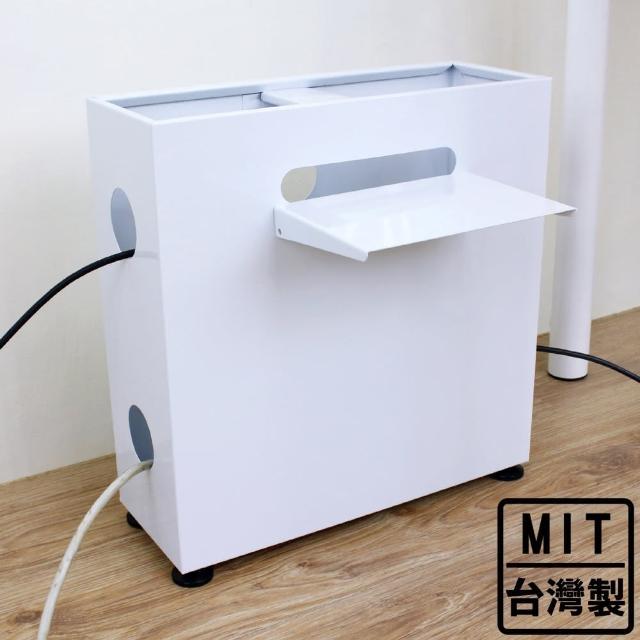 【美佳居】[鐵板製]線材收納箱/電線整理箱-寬40x深15x高42/公分(二色可選)