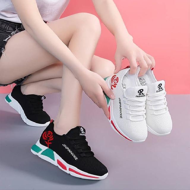 【K.W.】玫瑰印花休閒鞋-輕量/運動鞋/休閒鞋(共2色)
