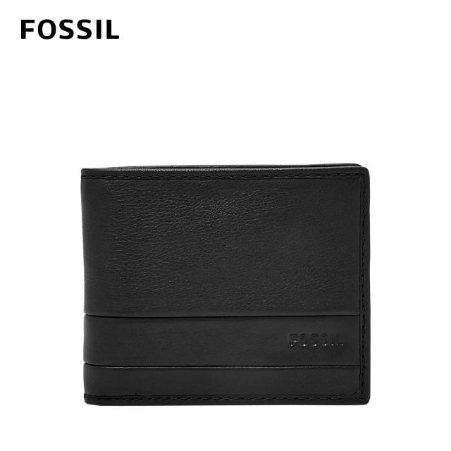 【FOSSIL】Lufkin 柔軟多卡兩折短夾-黑色 SML1392001
