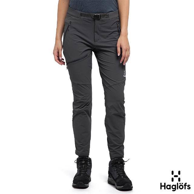 【Haglofs】女 Lizard 防潑水 透氣 彈性長褲(磁鐵色)