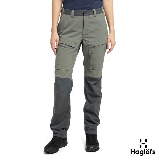 【Haglofs】女 Mid Fjord 防潑水 快乾長褲(白鯨灰/磁鐵色)