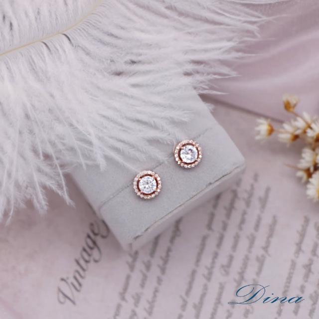 【DINA 蒂娜珠寶】繞圓鑽 CZ鑽造型耳環(CS6456)