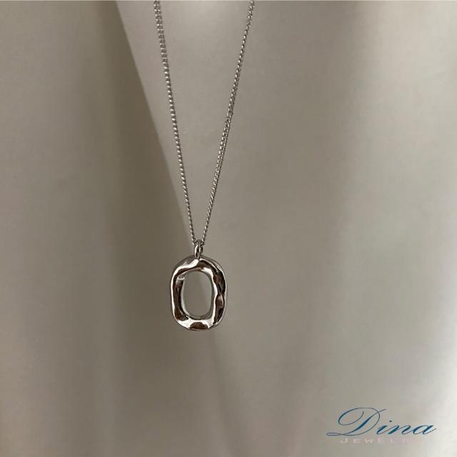 【DINA 蒂娜珠寶】液化幾何 造型韓風項鍊(JS6859)
