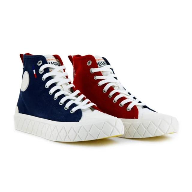 【Palladium】PALLA ACE CVS MID 紅藍 中性 男女款 帆布 休閒鞋(77015402)