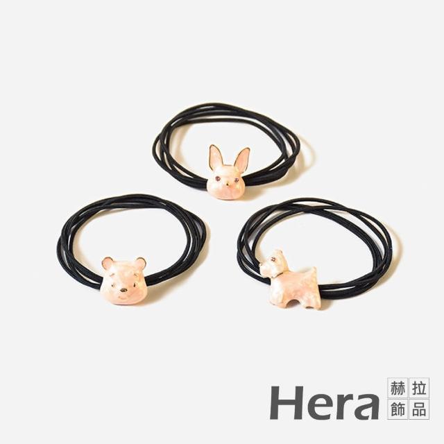 【HERA 赫拉】可愛動物髮圈髮飾-隨機款2入組#H100414D(可愛 動物 髮圈)