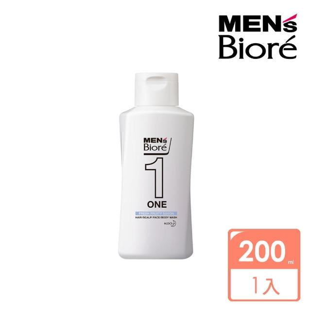【MENS Biore】ONE 髮顏體全效潔淨露-企劃瓶200ml(淨皂清香)