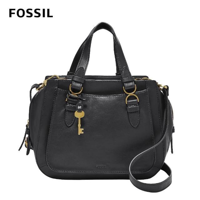 【FOSSIL】Brooke 真皮圓弧側背包-黑色 ZB1356001