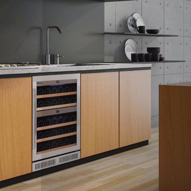 【CASO】德國 CASO 嵌入式酒櫃 雙溫控酒櫃 40瓶裝 酒櫃 SW-40(雙溫控嵌入式紅酒櫃)