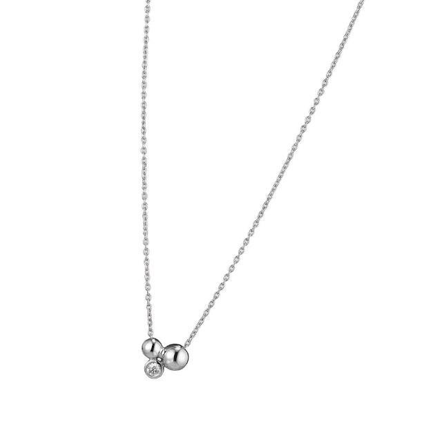 【Georg Jensen 喬治傑生】MOONLIGHT GRAPES 鑽石純銀項鍊(20000713)
