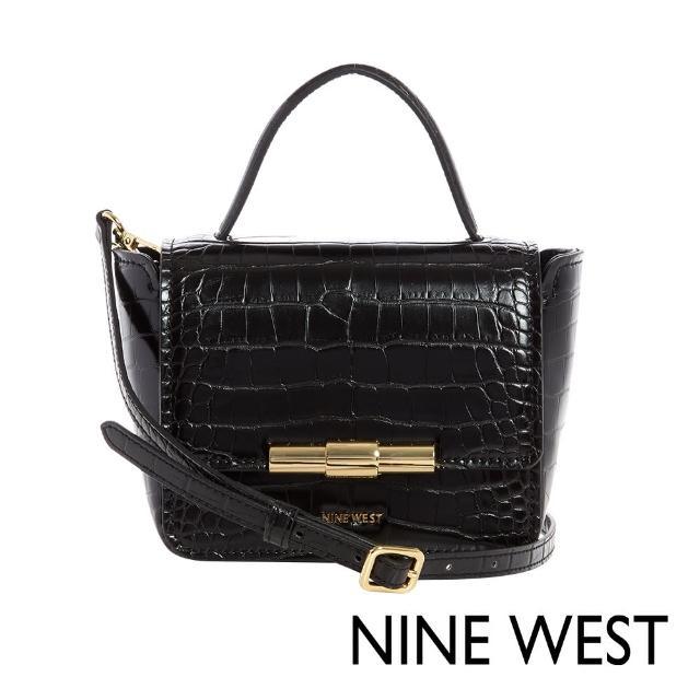 【NINE WEST】HOLLIS時尚鱷魚紋MINI手提/斜背包-黑色(116678)