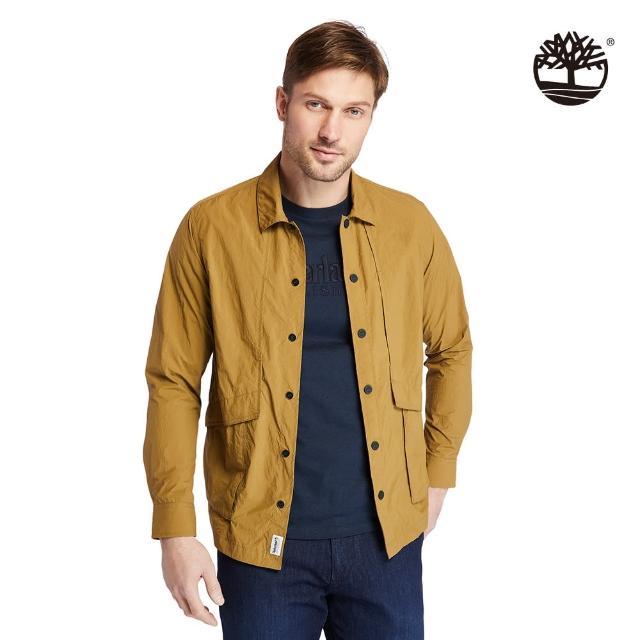 【Timberland】男款淺棕色Field Trip快乾長袖襯衫外套(A251U834)