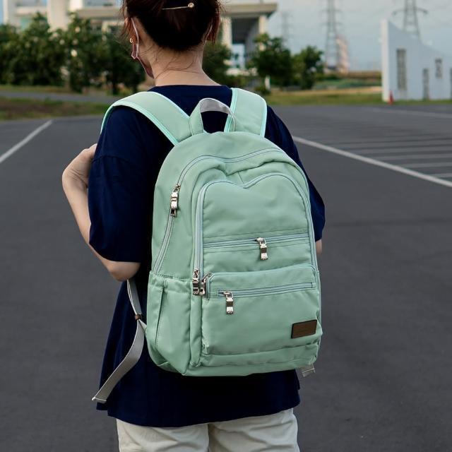 【J II】後背包-極限水洗雙拉鍊後背包-果綠色-6566-24(後背包)