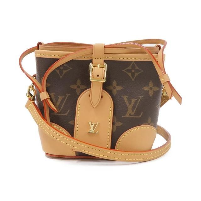 【Louis Vuitton 路易威登】LV M57099 Neonoe系列經典Monogram印花帆布束口迷你手拿/斜背水桶包