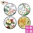 【財神小舖】開運藝術風水噴畫帶畫框(4款任選-圓框)