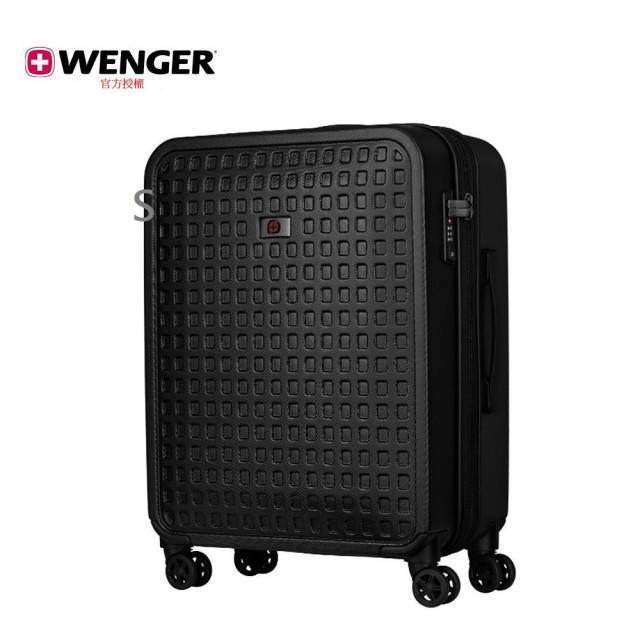 【WENGER 威戈】Matrix 24吋行李箱 /格子黑(604355)