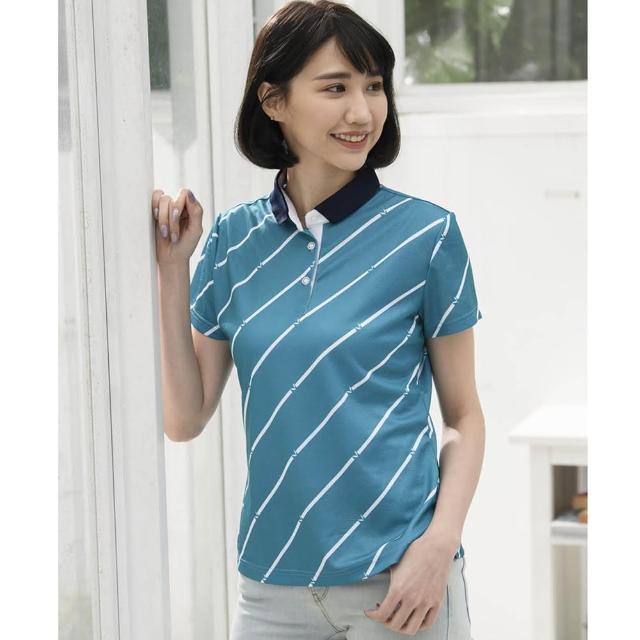【LEIDOOE】簡約雨紋休閒女短POLO衫(16880)