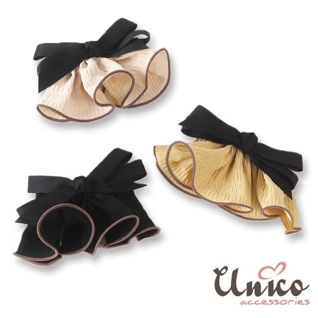 【UNICO】韓系風 輕甜少女裙擺搖搖蝴蝶結髮夾/頂夾(髮飾/配件/蝴蝶結/輕甜)