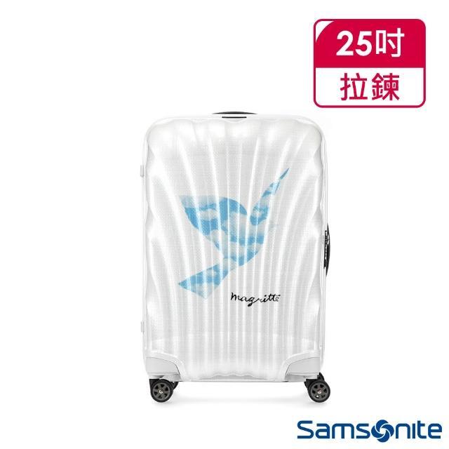 【Samsonite 新秀麗】x Magritte 25吋C-LITE極輕Curv材質經典貝殼登機箱(SKY BIRD)