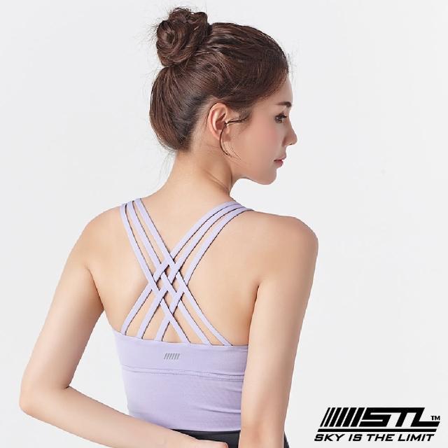 【STL】yoga Crop Top Bra 123 韓國瑜伽「專利記憶棉胸墊」機能運動內衣/短版上衣(甜美紫SweetPurple)