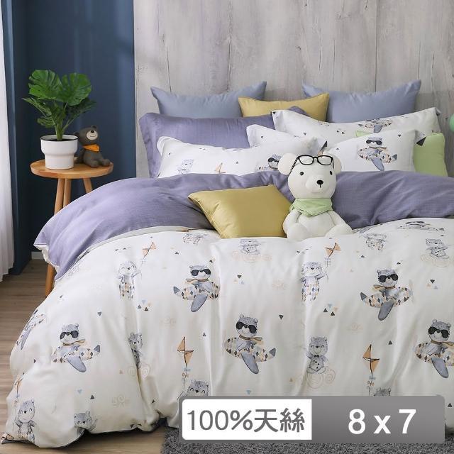 【HongYew 鴻宇】雙人特大薄被套 天絲300織 台灣製(比飛熊)