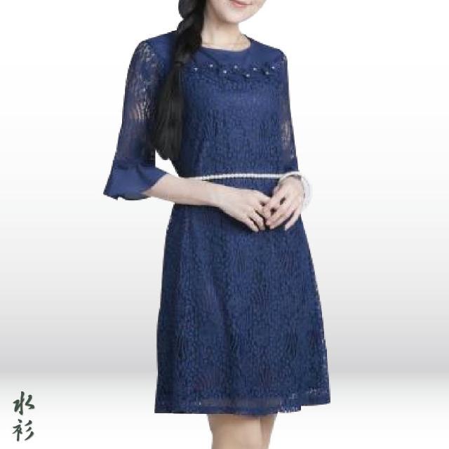 【水衫】精緻花卉款蕾絲洋裝二件組(J03-10)