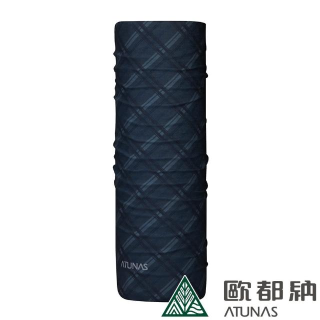 【ATUNAS 歐都納】COOLMAX吸濕排汗抗菌頭巾(A1ACCC08N格紋灰/防曬透氣/單車/運動/路跑)