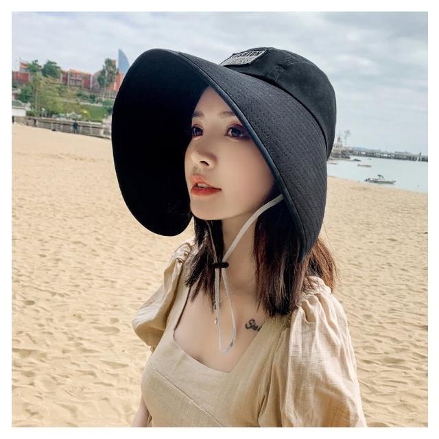 【HaNA 梨花】夏日女神不怕曬大沿遮陽帽.防紫外線遮臉帽