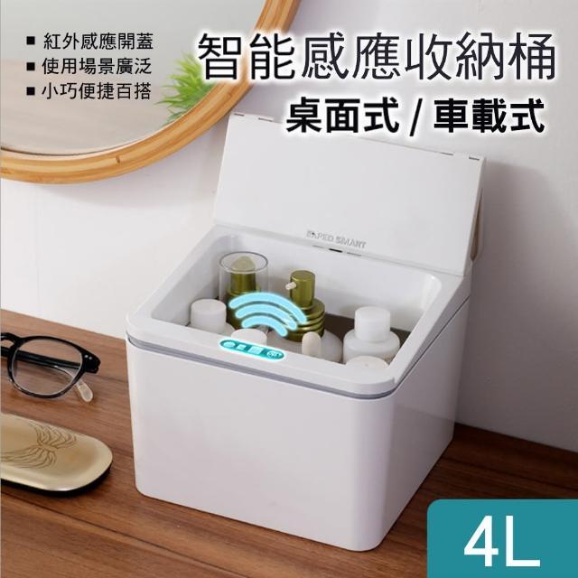 【CS22】智能感應桌面車用收納桶(垃圾桶)