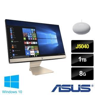 【+Google音箱】ASUS V222GAK 22型液晶電腦-黑曜金(J5040/8G/1TB HDD/WIN10)