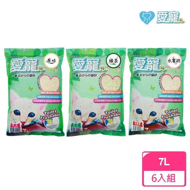 【愛寵】豆腐貓砂7L-6入