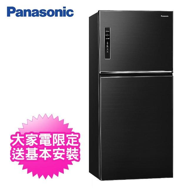 【Panasonic 國際牌】650公升一級能效雙門變頻冰箱(NR-B651TV-K晶漾黑)