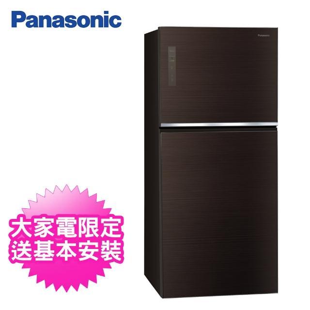 【Panasonic 國際牌】650公升一級能效玻璃雙門變頻冰箱(NR-B651TG-T曜石棕)