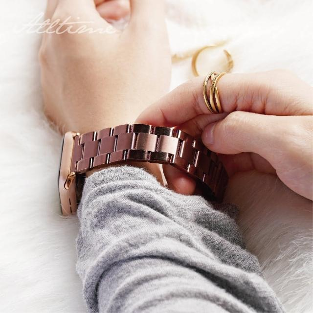 【ALL TIME 完全計時】光感柔霧不鏽鋼錶帶(Apple watch蘋果錶帶 鋼帶)