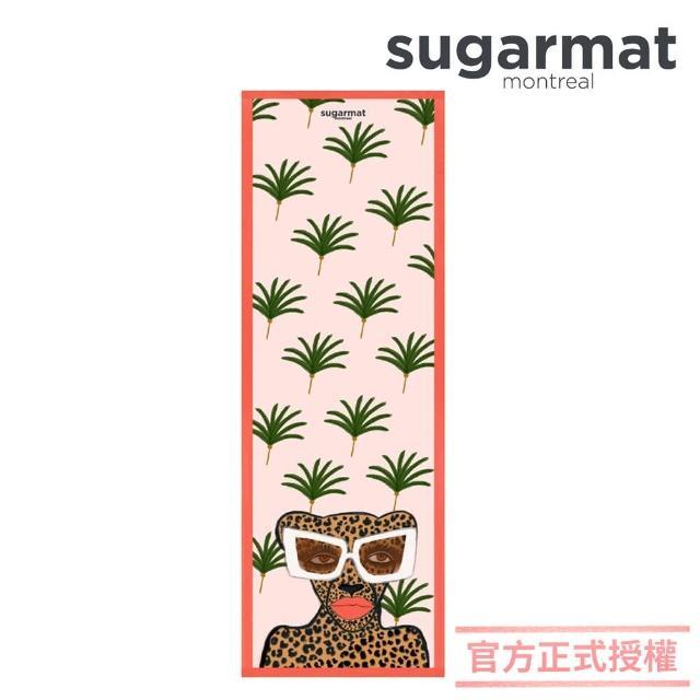 【加拿大Sugarmat】麂皮絨天然橡膠瑜珈墊 3.0mm(時髦美洲豹Kiss & Make Up)