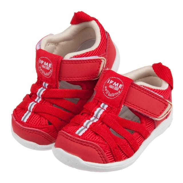 【布布童鞋】日本IFME紅色和風寶寶機能水涼鞋(P1B602A)