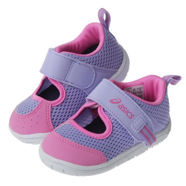 【布布童鞋】asics亞瑟士AMPHIBIAN_BABY紫粉色寶寶好涼機能學步鞋(J1H118F)