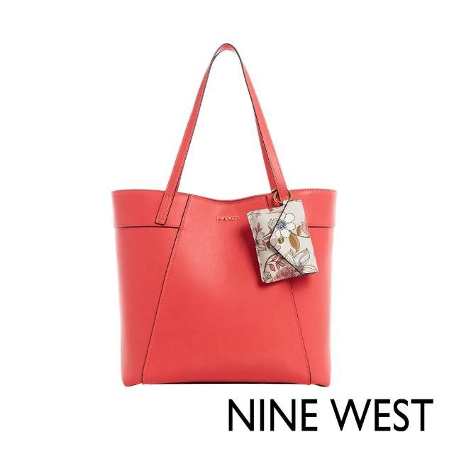 【NINE WEST】SUNNYSIDE大容量肩背托特包-珊瑚紅(118623)