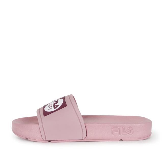 【FILA】Fila Pop Slide 拖鞋 女 運動 休閒 舒適 輕量 防水 藕紫(4-S351V-555)