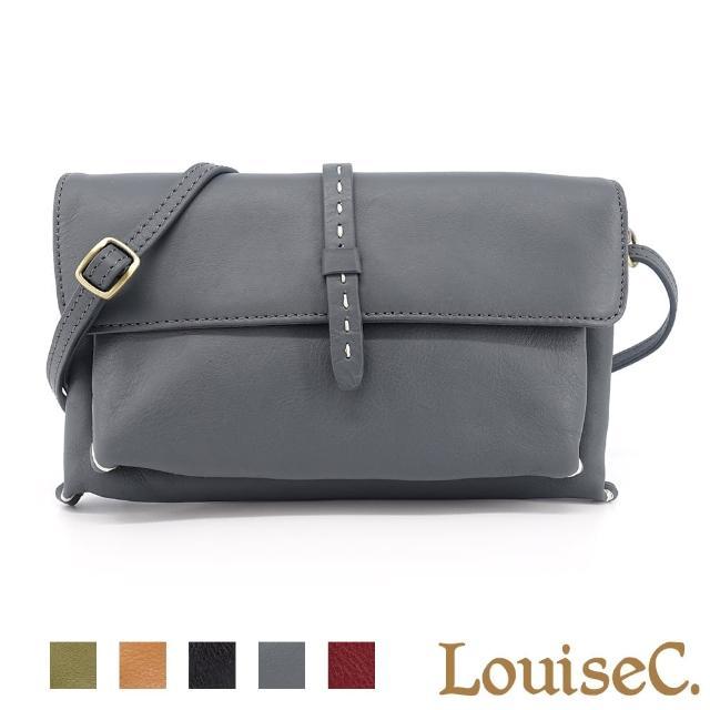【LouiseC.】Tree House 真羊皮手縫線設計萬用手拿斜背小包-3色(YS98051)