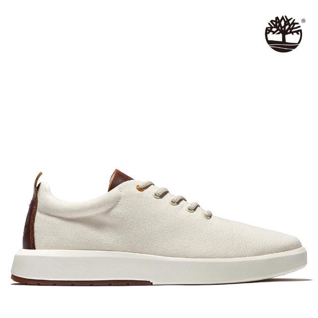 【Timberland】男款白色TrueCloud EK+帆布休閒鞋(A226P101)