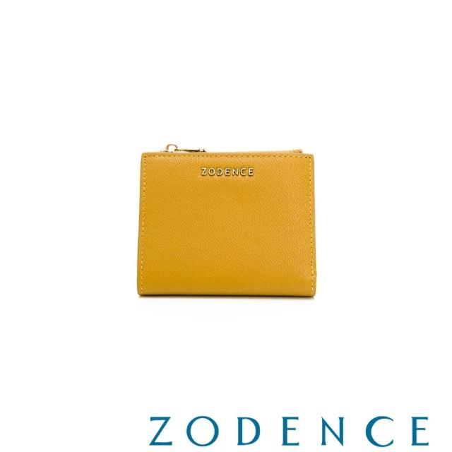 【ZODENCE 佐登司】LIZ進口牛皮對開輕薄短夾(黃色)
