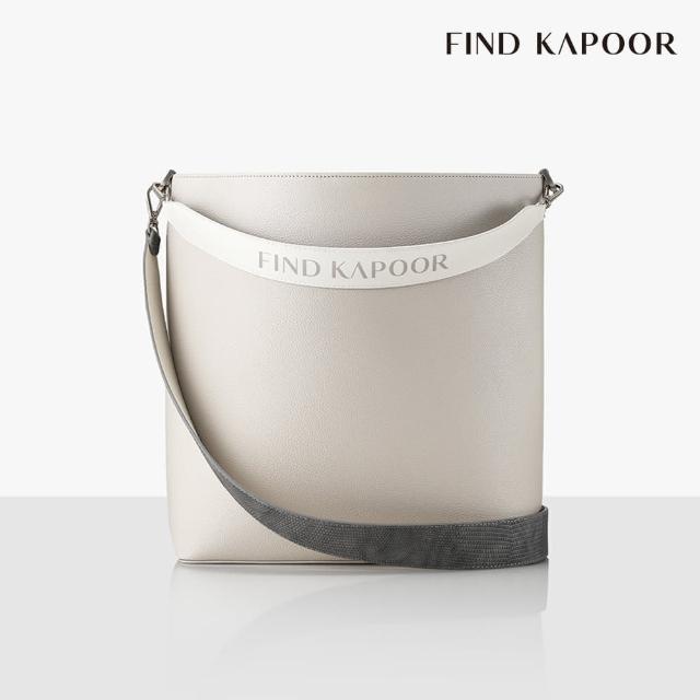 【FIND KAPOOR】LEKOO H 28 BASIC字母系列 大尺寸手提斜背水桶包- 象牙白