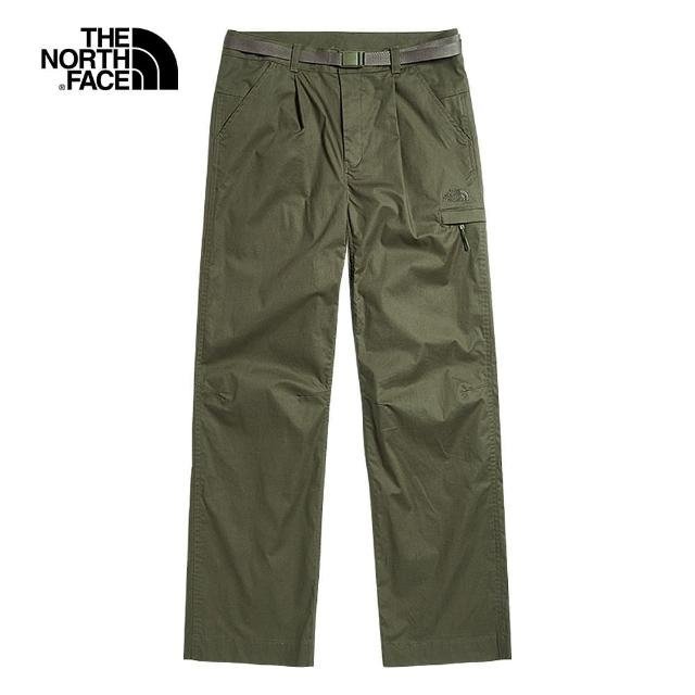 The North Face【The North Face】The North Face北面UE女款綠色防風防潑水休閒長褲|49E37D6