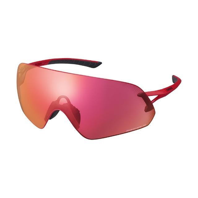 【SHIMANO】AEROLITE P RIDESCAPE RD 全景一片式太陽眼鏡 金屬紅