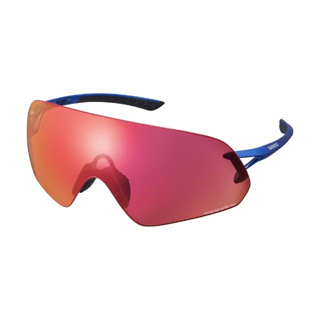 【SHIMANO】AEROLITE P RIDESCAPE RD 全景一片式太陽眼鏡 金屬藍