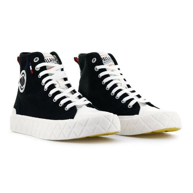 【Palladium】PALLA ACE CVS MID 黑白色 男女款 高筒 帆布休閒鞋(77015030)
